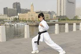 K.G. Rina Takeda Karate Girl White Sister